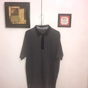 Travis Mathew Men's Polo Shirt Large Gray Nice